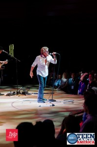 Roger Daltrey of the The Who performing for a fundraiser for TCA