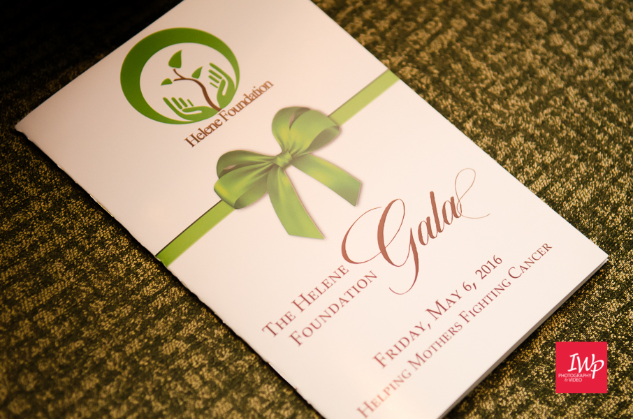 A beautifully made program for The Helene Foundation Gala 2016