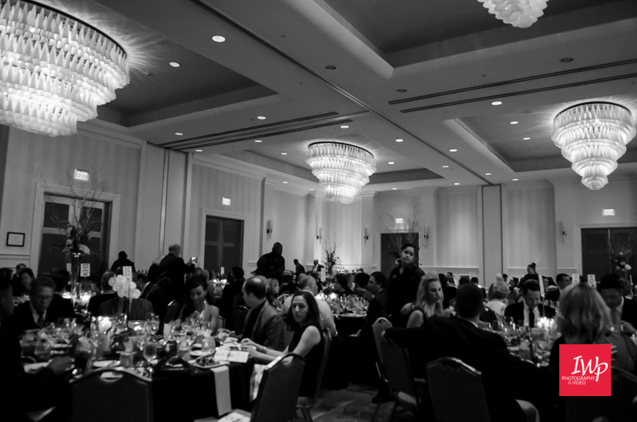 Room set up for the Helene Foundation Gala photographed by IWP Photography & Video