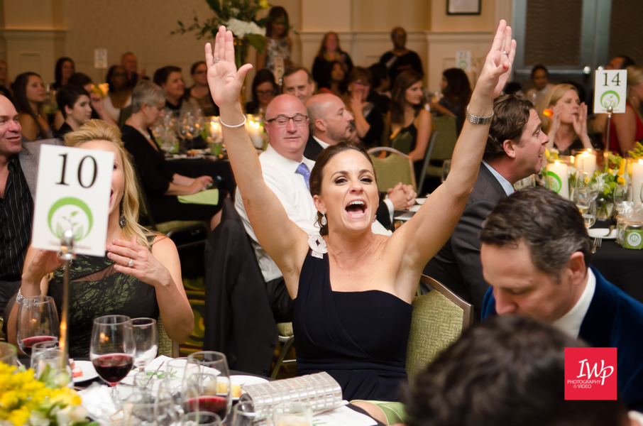 Bidders winning at the Helene Foundation Gala photographed by IWP Photography & Video